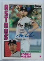2019 Topps Update Corbin Martin Silver Pack Refractor Rookie Auto #'d 12/63 RC