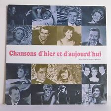 "33T CHANSONS D'HIER D'AUJOURD'HUI Disque LP 12"" RENARD BARRIERE FERNANDEL FERRAT"