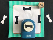 "Paper Hole Punch - 1.5"" Dog Bone Plus Paw Print Stamp Custom Made -Marvy Uchida"