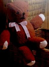 "Toy Teddy Bear Knitting Pattern Vintage Stuffed Knitted 52cm/20.5""Tall DK Wool"