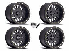 "Method 406 Beadlock ATV 14"" Wheels Rims Black 14x8 4+4 Honda Pioneer 500 700"