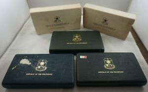 3 BOXES ONLY NO COIN 1978 and 1979 PHILIPPINES Silver Proof Set Boxes Lot