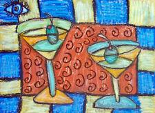 An Eye for Martinis Pop Art Print 8x10 by Artist Kimberly Helgeson Sams Cubist