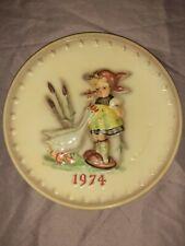 Vintage 1974 Hummel Goebel Germany Annual Plate Goose Girl Hand Painted