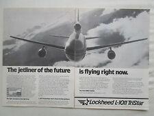 5/1981 PUB LOCKHEED L-1011-500 TRISTAR AIRLINER AIRCRAFT AVION ORIGINAL AD