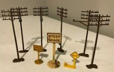 TRAIN ACCESSORIES TELEPHONE POLES and RAILROAD SIGNS