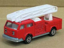 US-Feuerwehr Leiterwagen in rot, Majorette, o. OVP, 1:100, Zustand gut