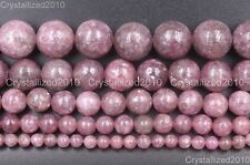 Natural Lepidolite Gemstone Round Spacer Loose Beads 4mm 6mm 8mm 10mm 12mm 15