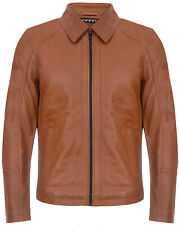 Men's Smart Classic Leather Harrington Biker Jacket