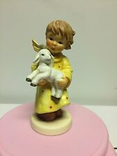 Rare Goebel Hummel 2339 Nativity Angel Of Comfort With Lamb