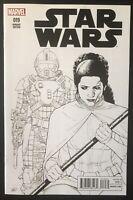 Star Wars #19 1:100 Retailer Incentive 2015 Sketch Variant Marvel Comic Book