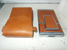 Vintage Polaroid SX-70 SLR Land camera with case brown leather and chrome