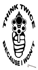 SECURITY STICKER GUN THINK TWICE BECAUSE I WON'T STICKER