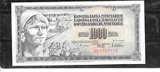 YUGOSLAVIA #92a 1978 UNCIRCULATED 1000 DINARA OLD BANKNOTE PAPER MONEY BILL NOTE