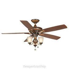 """Hampton Bay Havenville 52"""" ceiling fan Berre walnut"""