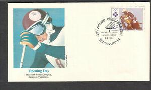 Yugoslovia 1084 Fleetwood cachet FDC Sarajevo Olympics