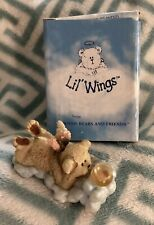 Boyds Bears Lil Wings Goldie 24164 Resin Angel With Goldfish Nib