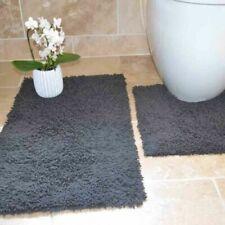 Tappeto da bagno grigio 100% Cotone