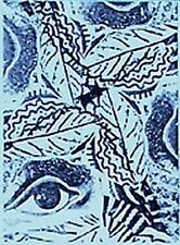 Eye & Leaves Design ATC Unmounted Rubber Stamp Deep Etched for Paper & Clay Art