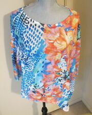 Women's Size 1 Chico's 3/4 Sleeve Side Tie Floral Top