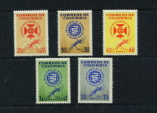 Colombia 1962  #740-1, C426-8  malaria mosquitos insects health   5v.  MNH  G106
