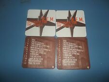 REM Automatic For The People Set Of Four (4) US Promo Only Drink Coasters