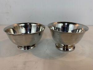 Vintage Oneida Paul Revere Silver Plate Pair of Bowls