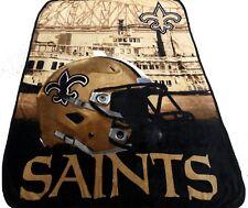 New Orleans Saints blanket bedding 60x80 Silk type FREESHIPPING NFL Saints throw