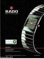 PUBLICITE ADVERTISING 096  2002  montre Rado ceramica  Roland Garros