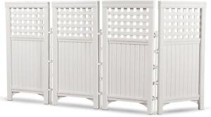 4 Panel Outdoor Patio Privacy Screen Enclosure Air Conditioner Trash Can Fence
