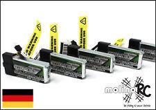 5x Turnigy nano-tech 300mah 1S 45~90C NEU Lipo Akku 3,7V Nine Eagles Solo Pro