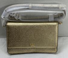 Michael Kors Phone Crossbody Mott Leather Gold Nwt