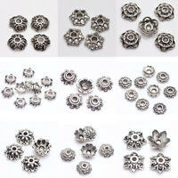 Lot New 200pcs Tibet Silver Metal Spacer Bead Caps 6/7/8/9mm Jewelry Findings