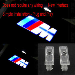 2Pcs BMW Car Door LED Light M Logo Projector Easy Installation Emblem Ghost HD