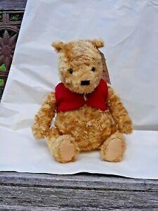 """GUND Winnie the Pooh Bear Classic Disney Red Vest Plush Stuffed 12"""" w/ Tags"""