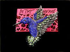 Hummingbird Animal Party Brooch Pin Betsey Johnson Fashion Women Bride Jewelry