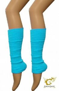 New Best Ladies Deluxe Luxurious 80's Plain Ribbed Leg Warmers Warm Accessories