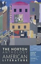 The Norton Anthology of American Literature Volume 2 (2012, Paperback) Free Ship