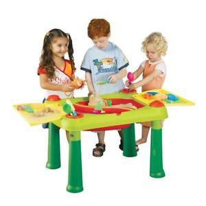 Keter Kinder Sandtisch Wassertisch 2in1 Sand Spieltisch Sandkasten Tisch Garten