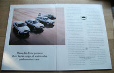 MERCEDES 300 SERIES - magazine CAR ADVERT poster size 12 x 18 in