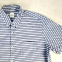 Gap Mens Luxury Chambray Striped Shirt Casual Blue Sz XL Tall