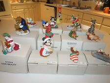 LOT OF 13 GROLIER DISNEY CHRISTMAS MAGIC ORNAMENTS IN ORIGINAL BOXES