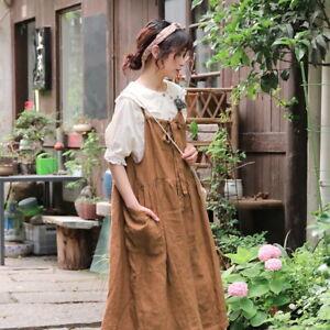Robe tablier lin ample Mori shabby chic rétro ancien boheme vintage