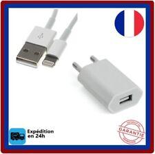 2en1 Chargeur-secteur mural+Cable-USB-pour-iPhone-5-6-7-8-X-XS-XR-XS MaX-iPad