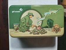 New listing 2017 Collectible Tin Girl Scouts Usa Replica Lunch Box Vintage Picnic Basket