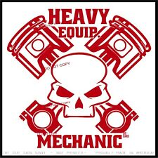 Heavy Equipment Mechanic Vinyl Decal Sticker Funny Bad...