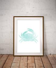 Under The Sea Crab Art Print,Nautical Sea Decor, Bathroom Art, Marine Life