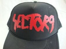 Sector 9 Snap Back Trucker Hat Cap Mesh foam Black with Red Adjustable
