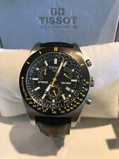 Tissot PRS 516 Chronograph Genuine Leather Men's Sport Wristwatches