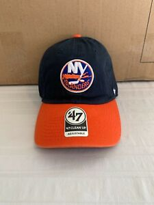 New York Islanders NHL '47 Brand Navy Two Tone Clean Up Adjustable Hat Brand New